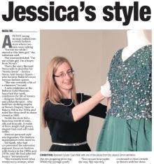 Jessica Simon Stones Ballarat fashion exhibition The Courier