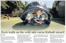 Kidsafe playground award Melbourne Zoo The Age