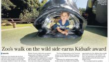 Kidsafe playground award Melbourne Zoo The Age