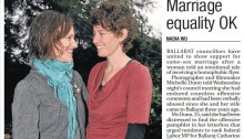 Marriage equality same sex marriage Ballarat council The Courier