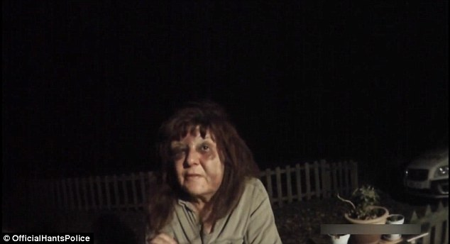 Dawn Marmoy after the attack. Image via YouTube/Hampshire Police Department.