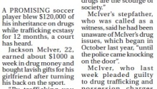 soccer player drugs ecstasy trafficking The Courier